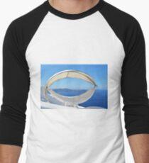 Oval sun chair in Santorini, Greece Men's Baseball ¾ T-Shirt