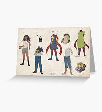 Ms Kamala Paper Doll Greeting Card
