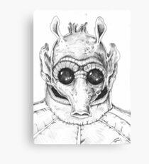 Star Wars Greedo Inked Canvas Print