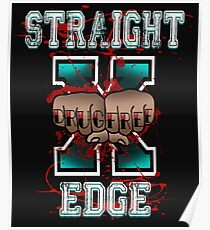 Straight Edge Drug Free sXe Poster