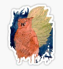 Hindi Owl Sticker