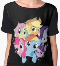 Mane Six Break Out! Women's Chiffon Top