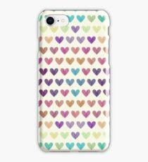 Colorful hearts III  iPhone Case/Skin