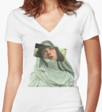 PULP addiction Women's Fitted V-Neck T-Shirt