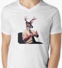 Deer Man, Thumbs Up Men's V-Neck T-Shirt