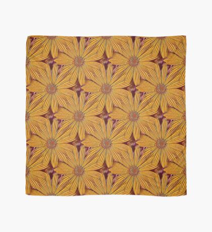 Yellow Daisy Flower Power Design Scarf