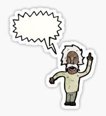 cartoon genius old man Sticker
