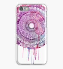 Purple dripping earth mandala iPhone Case/Skin