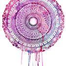 Purple dripping earth mandala by Matthew Sergison-Main