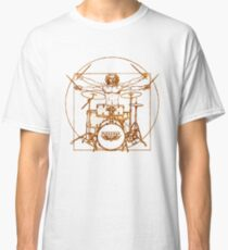 Vitruvian Drummer Man Classic T-Shirt