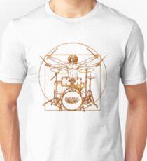 Vitruvian Drummer Man Unisex T-Shirt