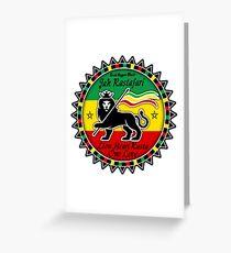 Rasta greeting cards redbubble jah rastafari heart lion rasta one love greeting card m4hsunfo
