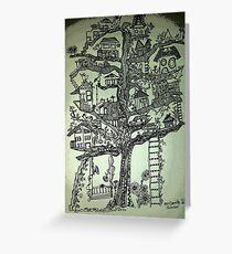 treehouse neighborhood Greeting Card