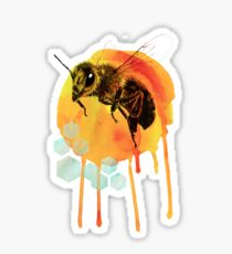 Honey bee watercolour Sticker