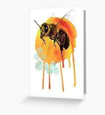 Honey bee watercolour Greeting Card