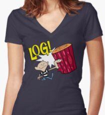 Log 2 Women's Fitted V-Neck T-Shirt