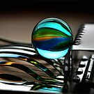 Glass marbles and egg cutter by SmoothBreeze7
