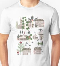 Christmas Winter Village Scene  T-Shirt
