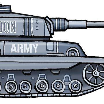 Toon Army Tank by glenmc