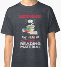 Abibliophobia Book Lover Funny Meaning Emojis Gag Classic T-Shirt