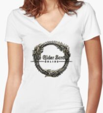 Elder Scrolls Online Logo Women's Fitted V-Neck T-Shirt
