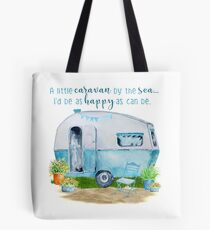 A little caravan by the sea Tote Bag