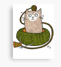 Knit One Purrl One Canvas Print