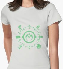 Jojo - Morioh Stands (Lime) Womens Fitted T-Shirt