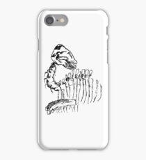 Dinosaur Skeleton Sketch iPhone Case/Skin