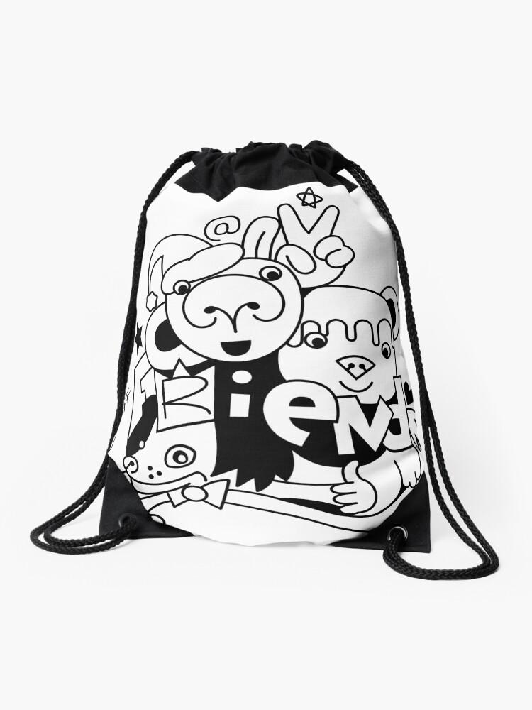Mochila De Cuerdas Dibujo Grupo De Amigos Animales Bebés Dibujos