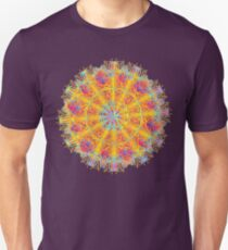 Psychedelic jungle kaleidoscope ornament 17 Unisex T-Shirt