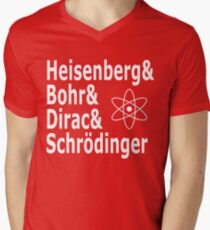 Funny Physics and Engineering Design with Quantum Physicists Mens V-Neck T-Shirt