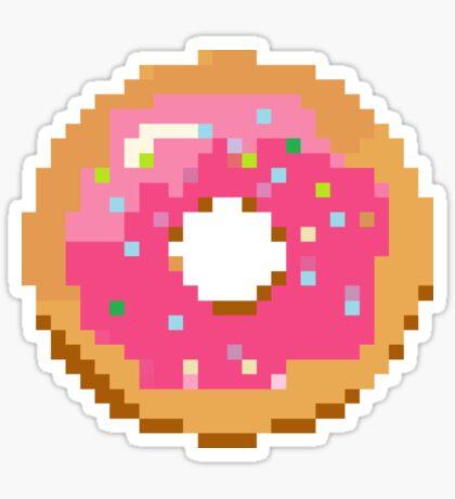 Pixel Doughnut Sticker