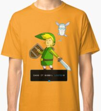 King of the Hill - Link from Zelda and Navi - Parody - Dang it Bobby, listen! Classic T-Shirt