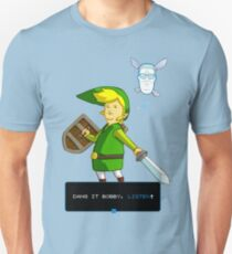 Camiseta unisex Rey de la colina - Enlace de Zelda y Navi - Parodia - Dang it Bobby, escucha!