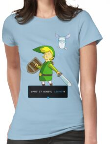 King of the Hill - Link from Zelda and Navi - Parody - Dang it Bobby, listen! Womens Fitted T-Shirt