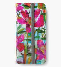Sommerrosen iPhone Flip-Case/Hülle/Klebefolie