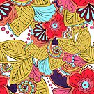 Floral Ornament Muster von Viktoriia