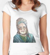 Mujer portuguesa Camiseta entallada de cuello redondo