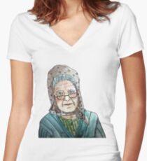 Mujer portuguesa Camiseta entallada de cuello en V
