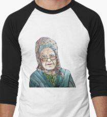 Mujer portuguesa Camiseta ¾ bicolor para hombre