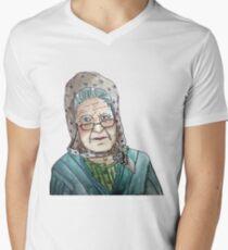 Mujer portuguesa Camiseta para hombre de cuello en v