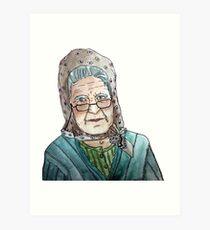 Mujer portuguesa Lámina artística