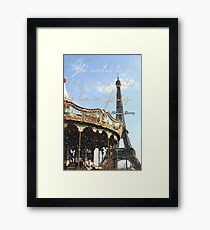 She wanted to die, but she also wanted to live in Paris. Framed Print