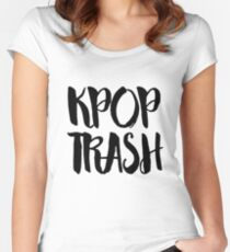 KPOP TRASH Women's Fitted Scoop T-Shirt