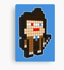 3D PIXEL - DOCTOR WHO (DAVID TENNENT) Canvas Print