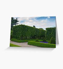 Formal gardens Greeting Card