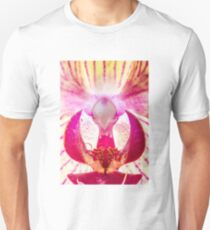 Water perls on a Orchid Unisex T-Shirt