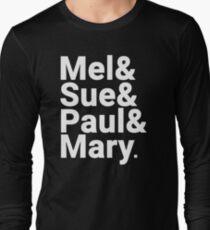Don't Break Up The Band (white on black) Long Sleeve T-Shirt