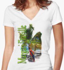Margaritaville Women's Fitted V-Neck T-Shirt